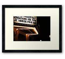 Movie Board Framed Print
