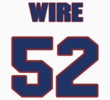 National football player Coy Wire jersey 52 by imsport