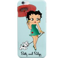 Betty Boop & Pudgy - Out For A Stroll iPhone Case/Skin