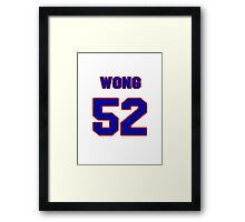 National football player Kailee Wong jersey 52 Framed Print