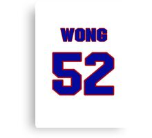 National football player Kailee Wong jersey 52 Canvas Print