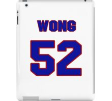National football player Kailee Wong jersey 52 iPad Case/Skin