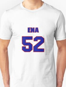 National football player Justin Ena jersey 52 T-Shirt