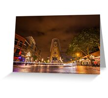 Gastown, Vancouver - Night Time Landscape Greeting Card