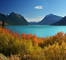 Autumn Tutshi Lake by John Poon