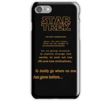 Star Trek Crawl - Next Generation iPhone Case/Skin