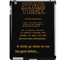 Star Trek Crawl - Next Generation iPad Case/Skin