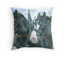 Horse team Throw Pillow