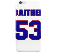 National football player Omar Gaither jersey 53 iPhone Case/Skin
