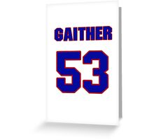 National football player Omar Gaither jersey 53 Greeting Card