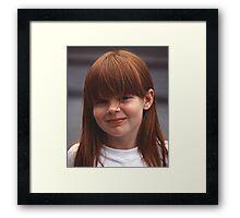 Girl With Auburn Hair and Freckles Framed Print
