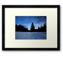 NC   Once upon a winter Framed Print
