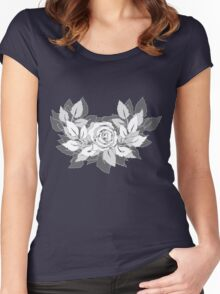 grey rose Women's Fitted Scoop T-Shirt