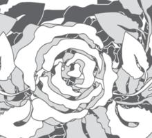 grey rose Sticker