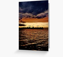 st. lawrence river veiw from wolfe island across to kingston Greeting Card