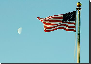 Stars and Stripes and Moon by Jim Caldwell