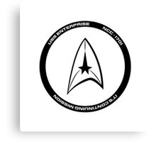 Star Trek - The Enterprise Canvas Print