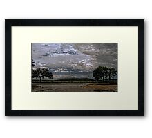 Winter Storm Pushes in Along Highway 16 Framed Print