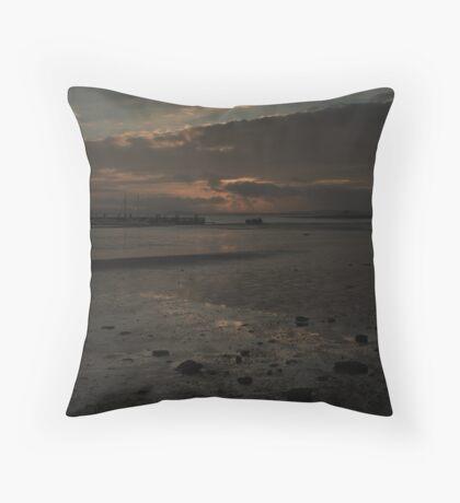 Moody Skies in sandbanks Throw Pillow