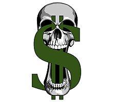Dollar Sign Skull Photographic Print