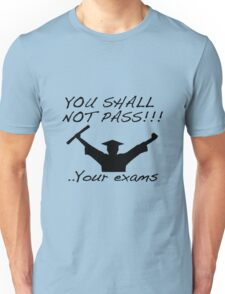 YOU SHALL NOT PASS! .. Your exams Unisex T-Shirt