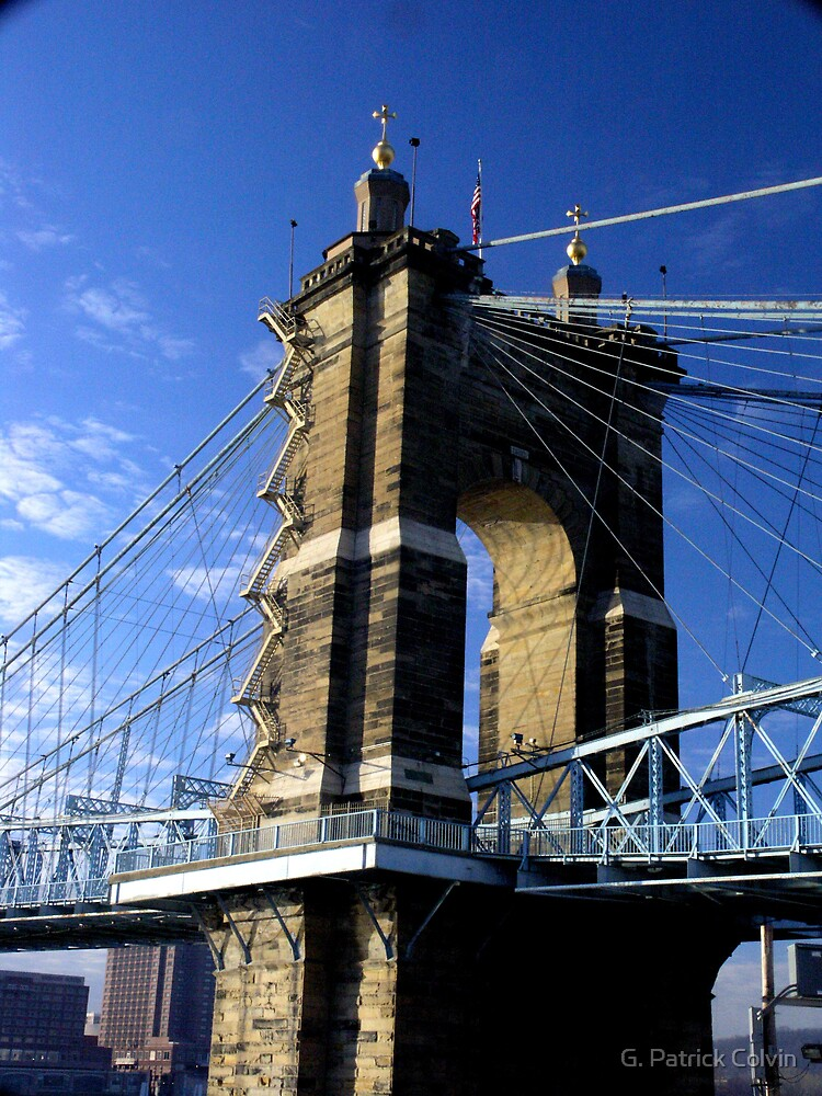 Roebling Suspension Bridge, Cincinnati by Gregory Colvin