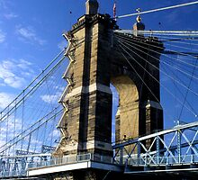 Roebling Suspension Bridge, Cincinnati by G. Patrick Colvin