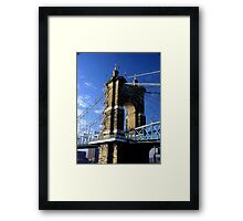 Roebling Suspension Bridge, Cincinnati Framed Print