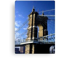 Roebling Suspension Bridge, Cincinnati Canvas Print