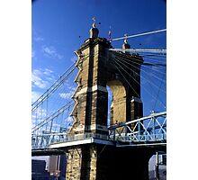 Roebling Suspension Bridge, Cincinnati Photographic Print