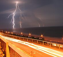 Lightning & Thunderstorm in Bournemouth, UK by Love Through The Lens