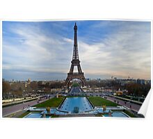 View From The Palais de Chaillot (Trocadero) Poster