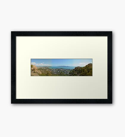 Townsville from the Castle Framed Print