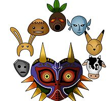 Lots of masks! -white- by CoyoDesign
