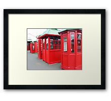 TELEPHONE RETRO Framed Print