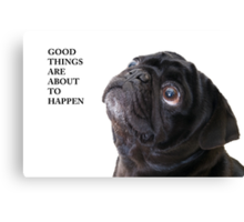 Good things black pug Canvas Print