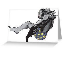 Spook Yeti, Chillin Greeting Card