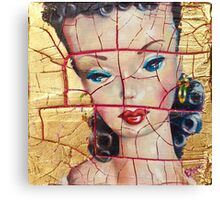 """Nothing to Fix"" (Vintage Barbie) series:IMPLOSION Canvas Print"