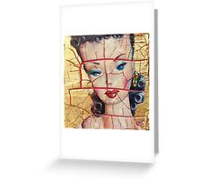 """""""Nothing to Fix"""" (Vintage Barbie) series:IMPLOSION Greeting Card"""