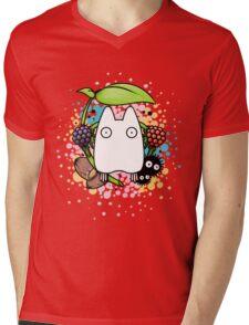 Chibi Totoro Mens V-Neck T-Shirt
