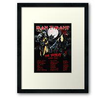 Iron Throne Tour Framed Print