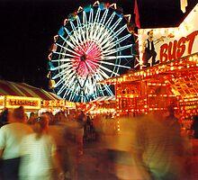 Saratoga Fair at Night by pwall