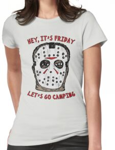Friday Camping Womens Fitted T-Shirt