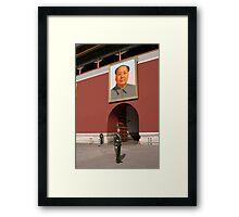 Guarding Mao Framed Print
