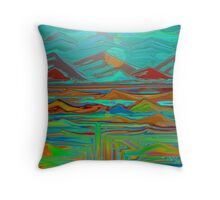 Opening to the underworld by LUCORE Throw Pillow