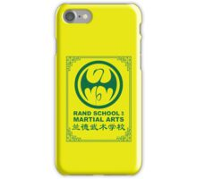 Rand School of Martial Arts Gold Class iPhone Case/Skin