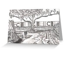 TRAINS GO BY Greeting Card