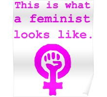 This is what a feminist looks like. Poster