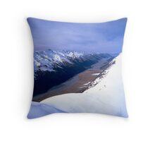 Ben Ohau Mountain Range, New Zealand Throw Pillow