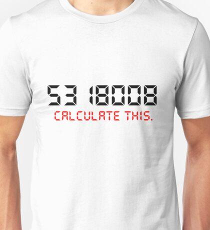Calculate this. BOOBIES 5318008 Unisex T-Shirt